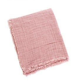 Emmy Linen Throw - Pink