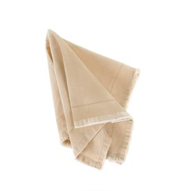 Frayed Edge Napkin - Cream
