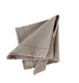 Frayed Edge Napkin - Light Grey