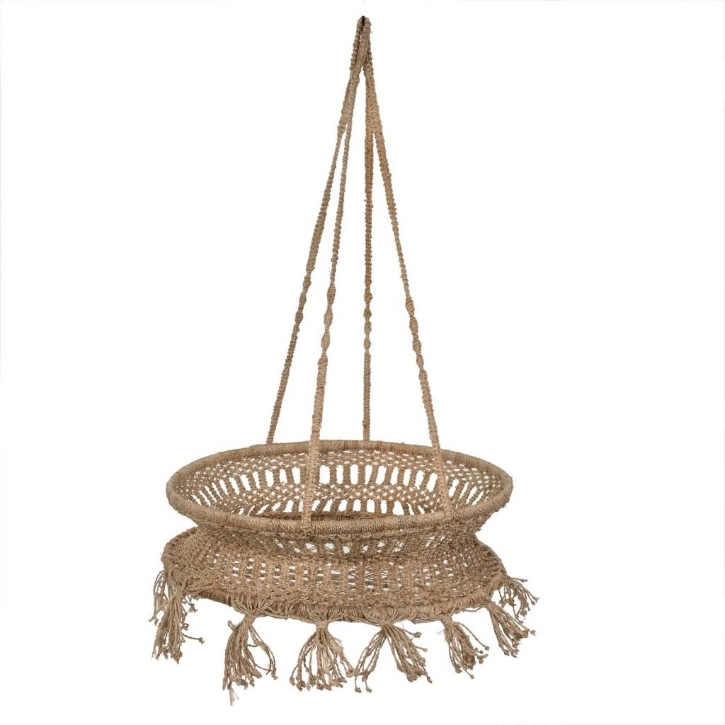 Boho Jute Hanging Basket