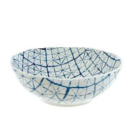 Light Blue Shibori Bowl - Large