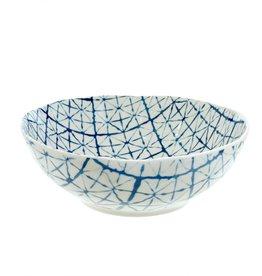 Light Blue Shibori Bowl - Large