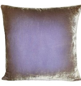 Kevin O'Brien Studio Ombre Silk Velvet Pillow - Lilac + Gold