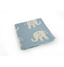 Blue Elephants Baby Blanket
