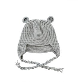 Crocheted Baby Bear Toque - Grey