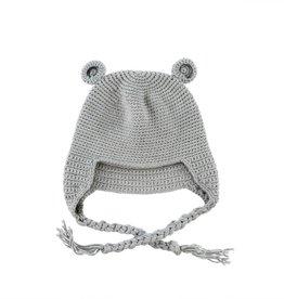Crocheted Baby Bear Toque - Grey