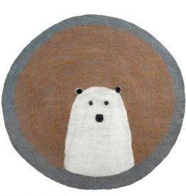 Polar Bear Felted Mat