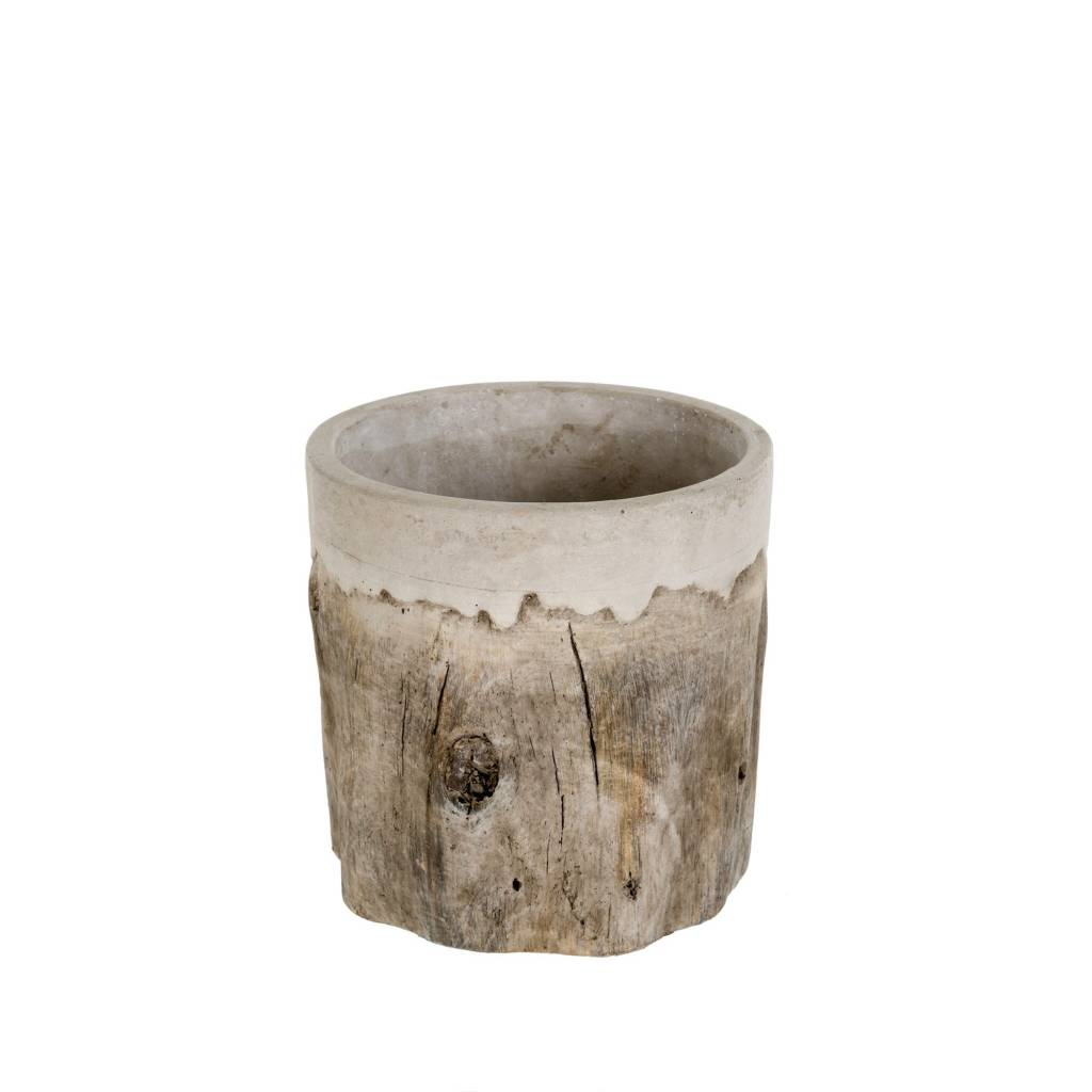 Faux Bois Pot - Small