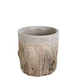 Faux Bois Pot - Medium