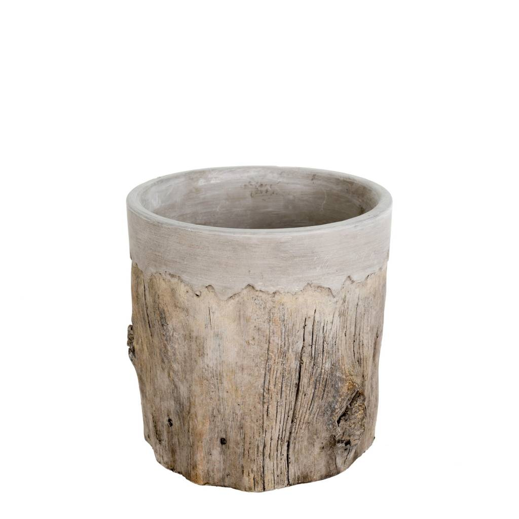 Faux Bois Pot - Medium