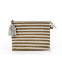 Silver Stripe Pouch - Large
