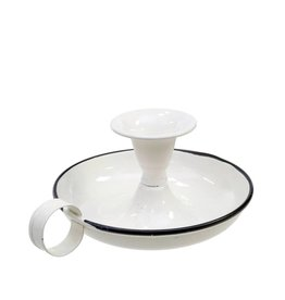 Old Time Candle Holder White