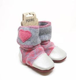 Nooks Velcro Baby Booties - Size 4 (6-12 Months)