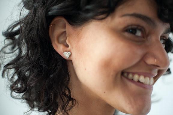 "Covet + Keep Jewelry Nell ""x o"" Heart Stud Earrings"