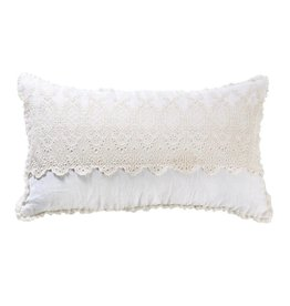 Pom Pom at Home Annabelle Lace Pillow - Cream