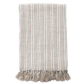 Pom Pom at Home Newport Throw - Natural + Midnight