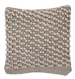Macramé Square Pillow - Beige