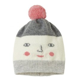 Donna Wilson Naughty/Nice Hat - Grey + Pink