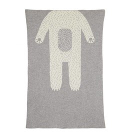 Donna Wilson Mini Bear Blanket - Grey + White