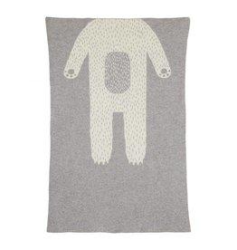 Donna Wilson Mini Bear Blanket - Grey + White