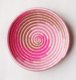 Indego Africa Pink Swirl Plateau Basket