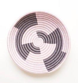 Indego Africa Pink & Gold Plateau Basket