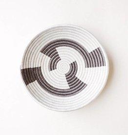 Indego Africa White & Gold Plateau Basket