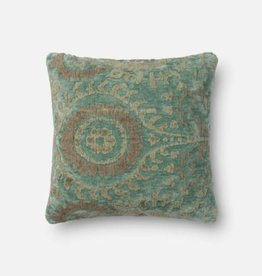 Loloi Blue Grass Square Pillow