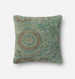 Loloi Blue Grass Square Pillow