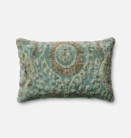 Loloi Blue Grass Lumbar Pillow