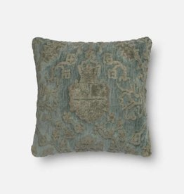 Loloi Grey Blue Square Pillow