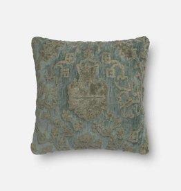 Loloi Grey Blue Square Pillow