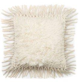 Loloi Ivory Square Tassel Pillow