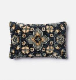 Loloi Blue Shag  Lumbar Pillow