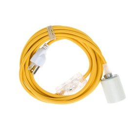 Color Cord Company Porcelain Plug-In Cord Set - Goldenrod