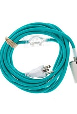 Color Cord Company Porcelain Plug-In Cord Set - Turquoise