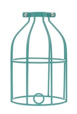 Color Cord Company Industrial Light Bulb Cage - Turquoise