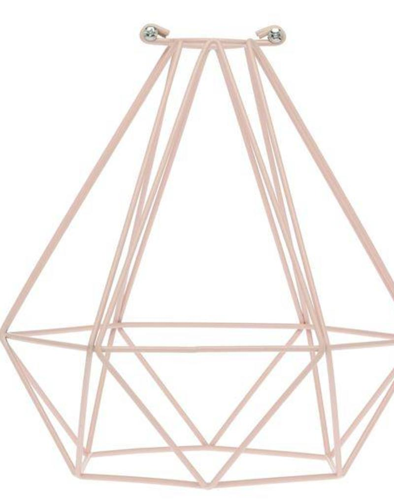 Color Cord Company Geometric Light Bulb Cage - Quartz