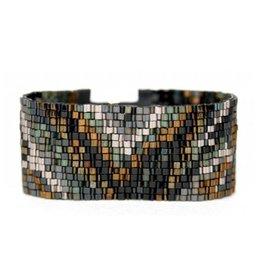 Julie Rofman Jewelry Steel Beaded Bracelet