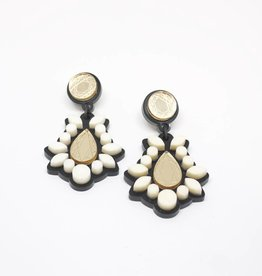 Finn Sofia Earrings - Ivory & Gold