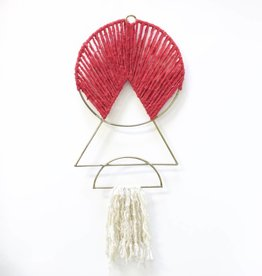 Meso Goods Iron Wall Art - Red + White
