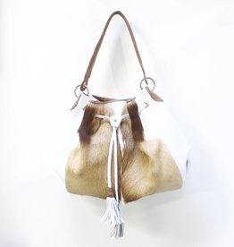 MooMoo Designs Jabulani Handbag - Ice White