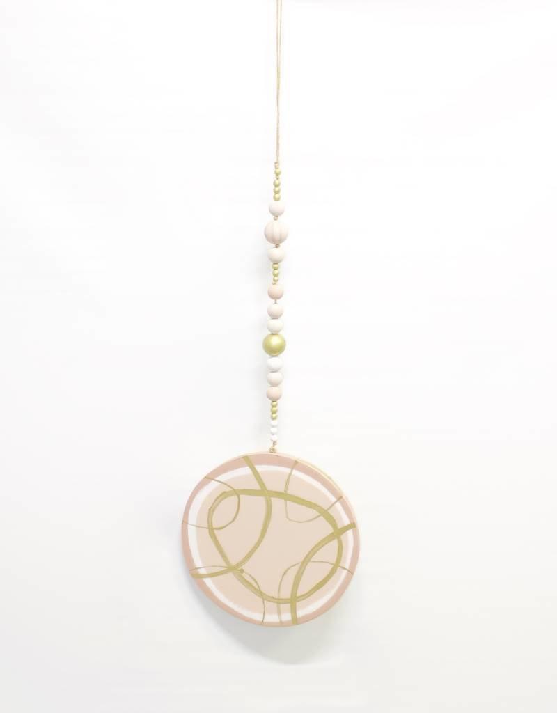 Entouquet Medium Circle Hanging - Pink + Gold + Rose