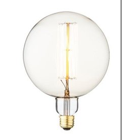 Extra Large Vintage Round Bulb - Lines