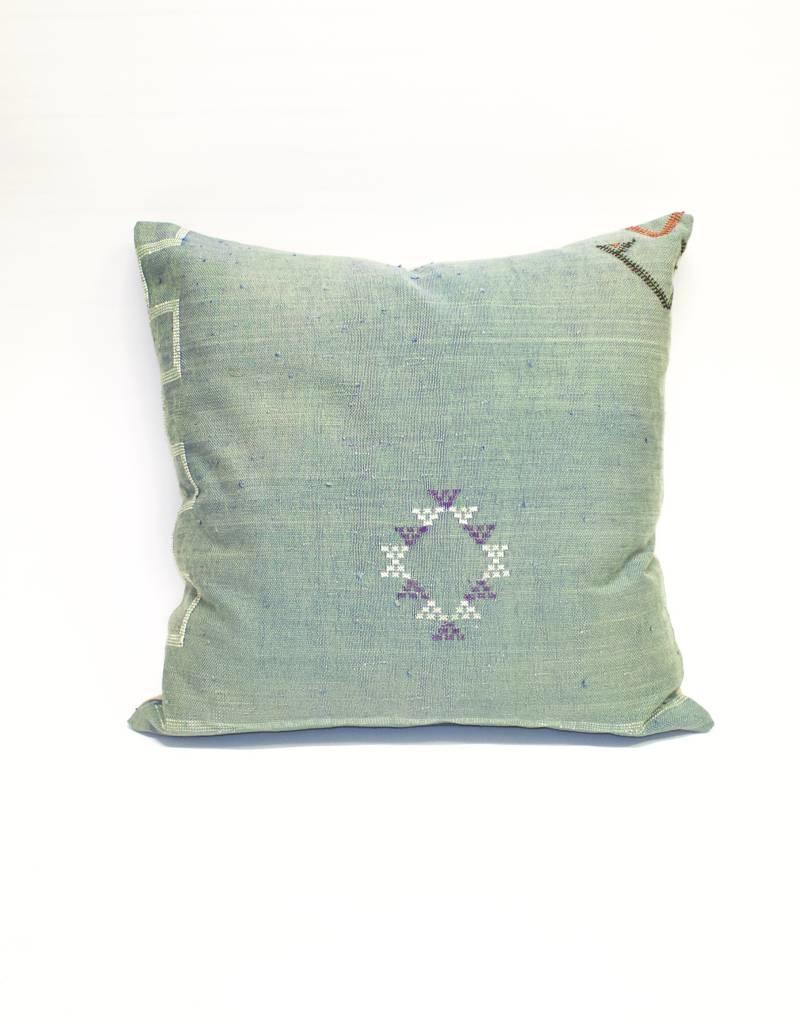 House of Cindy Sabra Large Square Pillow - Teal - alchemy