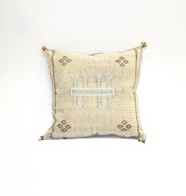House of Cindy Sabra Medium Square Pillow - Gray