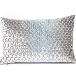Kevin O'Brien Studio Dots Silk Velvet Pillow - Dusk
