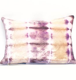 Kevin O'Brien Studio Rorschach Silk Velvet Pillow - Iris