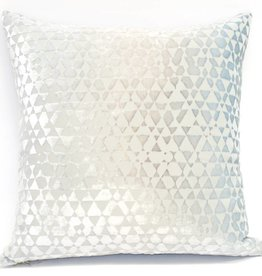 Kevin O'Brien Studio Triangles Silk Velvet Pillow - Robin's Egg