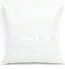 Kevin O'Brien Studio Woodgrain Metallic Linen Pillow - Blue